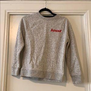 J. Crew amour sweatshirt